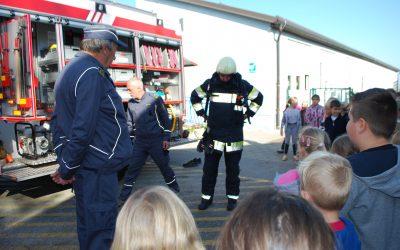 Evakuacija ob obisku gasilcev